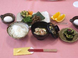 魯山人の葉酸卵かけご飯定食